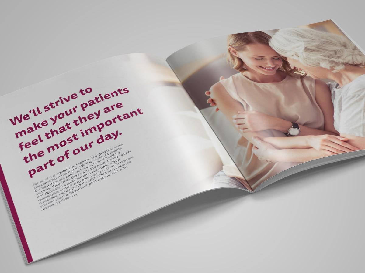 graphic designer raleigh healthcare print collateral brochure logo design